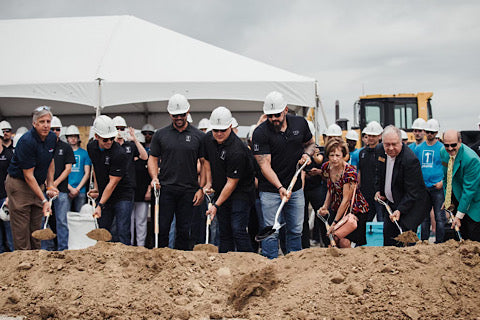 Andy at groundbreaking for new HQ