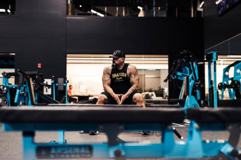 Andy sitting in the gym
