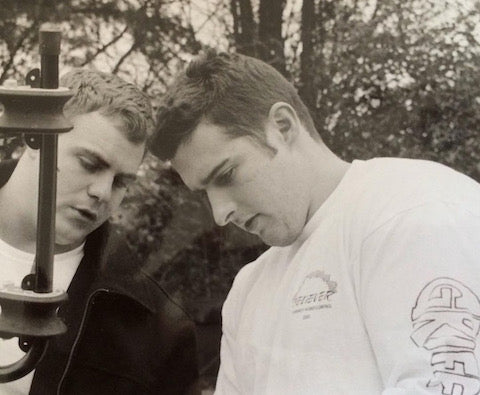 Andy with his business partner Chris 20 years ago