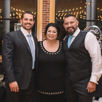 Andy and Sal with their Mom