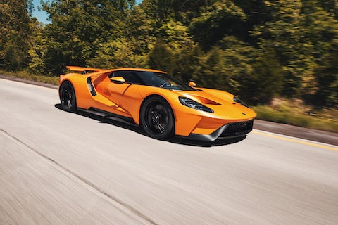 Ford GT on a road