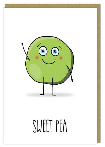 sweet pea cute pun greeting card birthday