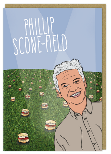 philip scone-field schofield pun greeting card birthday