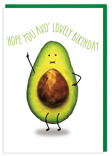 avo lovely birthday avocado funny greeting card cute