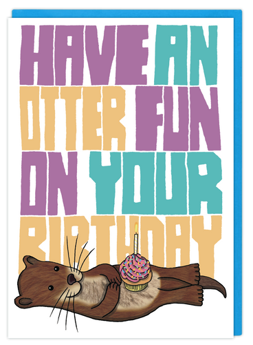 Otter Fun birthday card