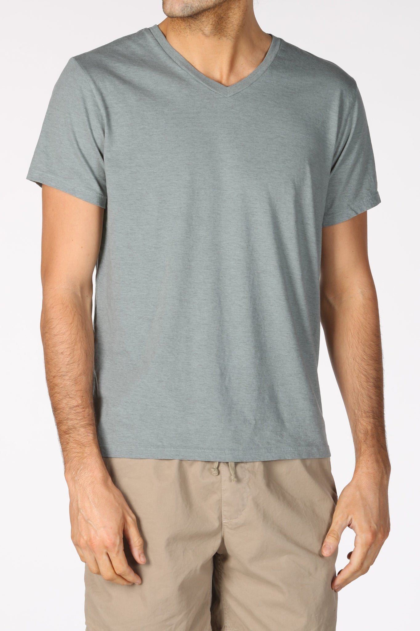 Save Khaki United Heather V Neck Tee