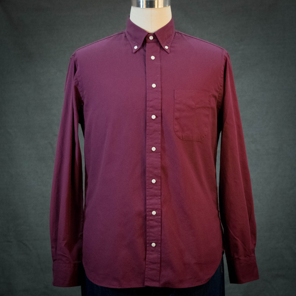 Gitman Vintage Burgundy Overdye Oxford
