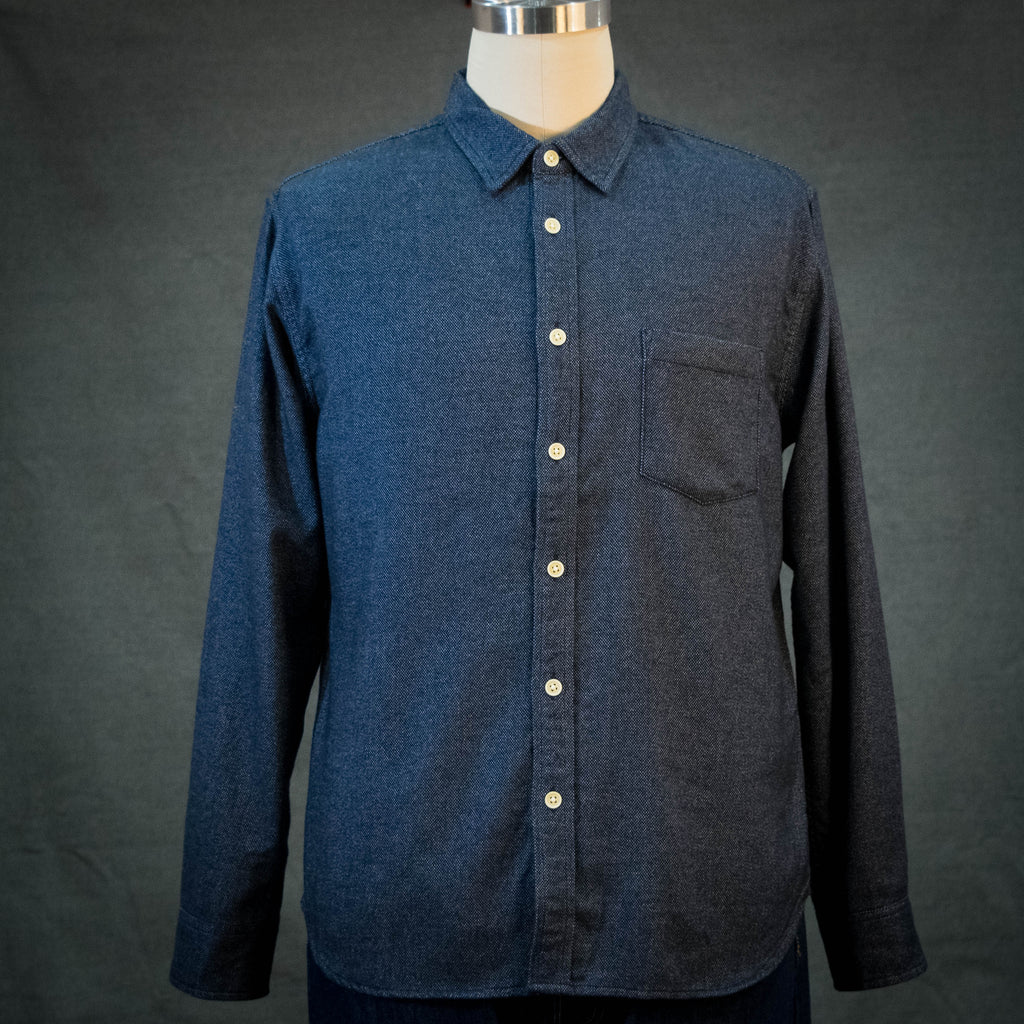Corridor Brushed Flecked Navy Flannel