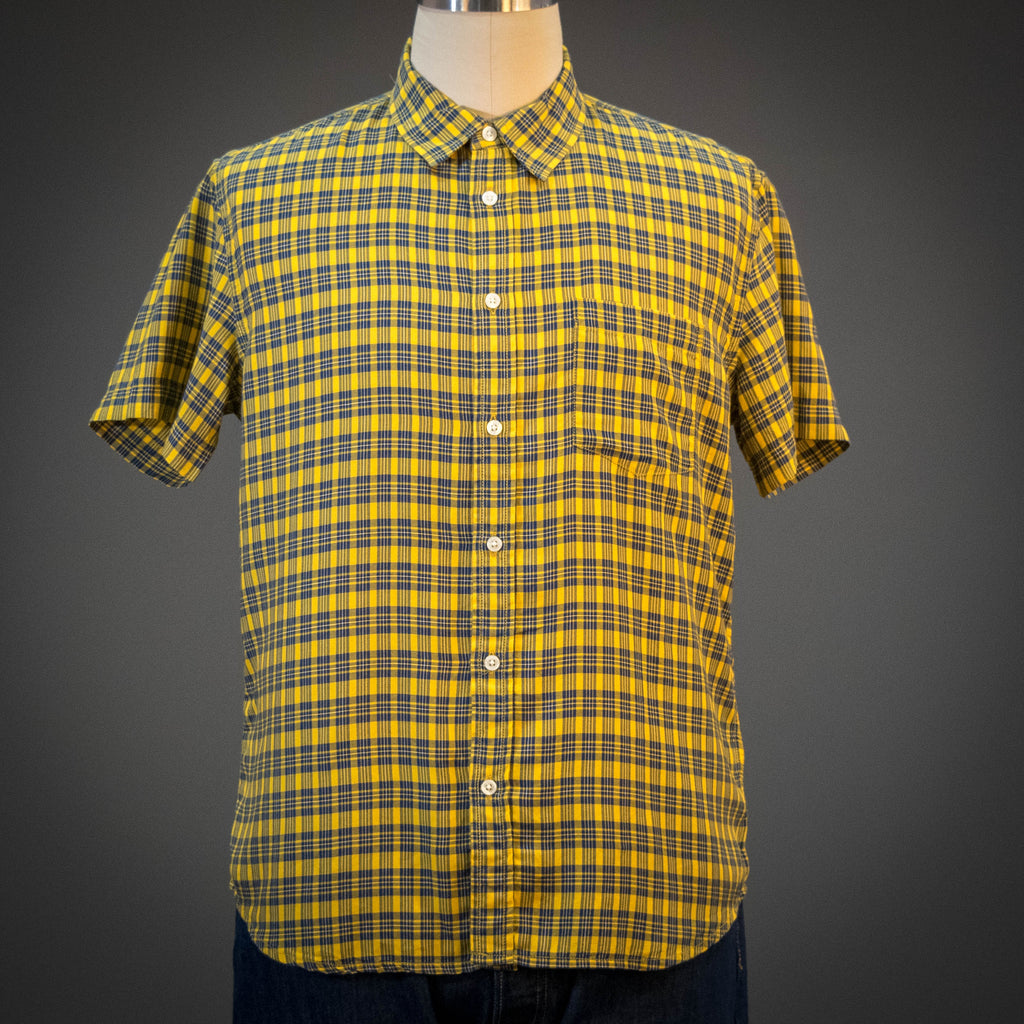 Corridor BBQ Yellow Plaid Short Sleeve Shirt