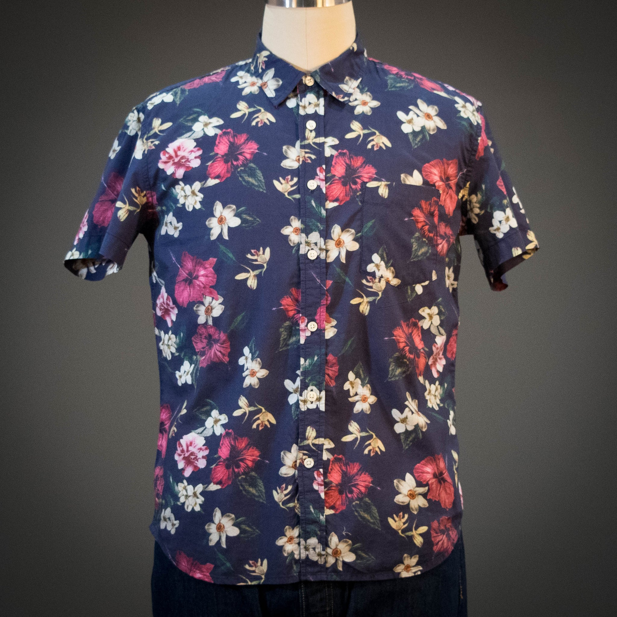 Corridor Navy Hawaiian Short Sleeve Shirt
