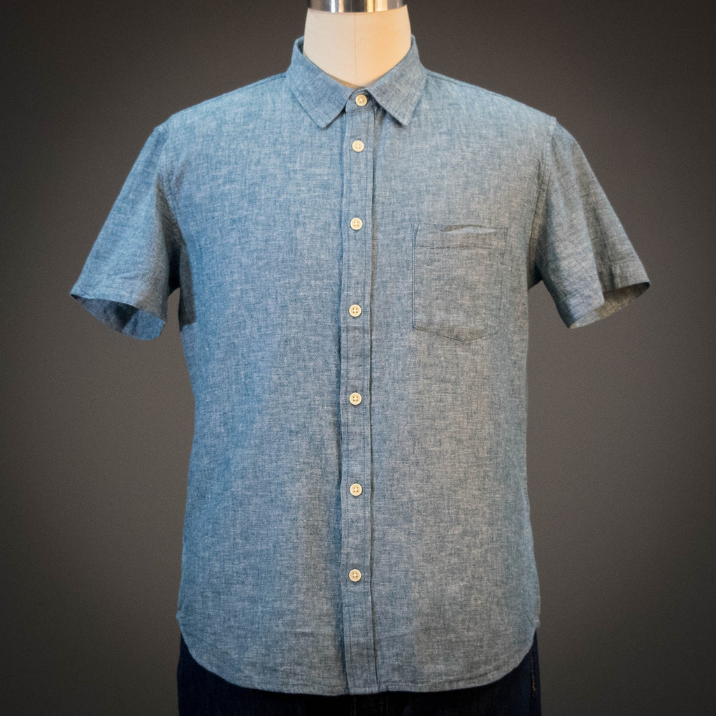 Corridor Linen Summer Chambray Short Sleeve Shirt