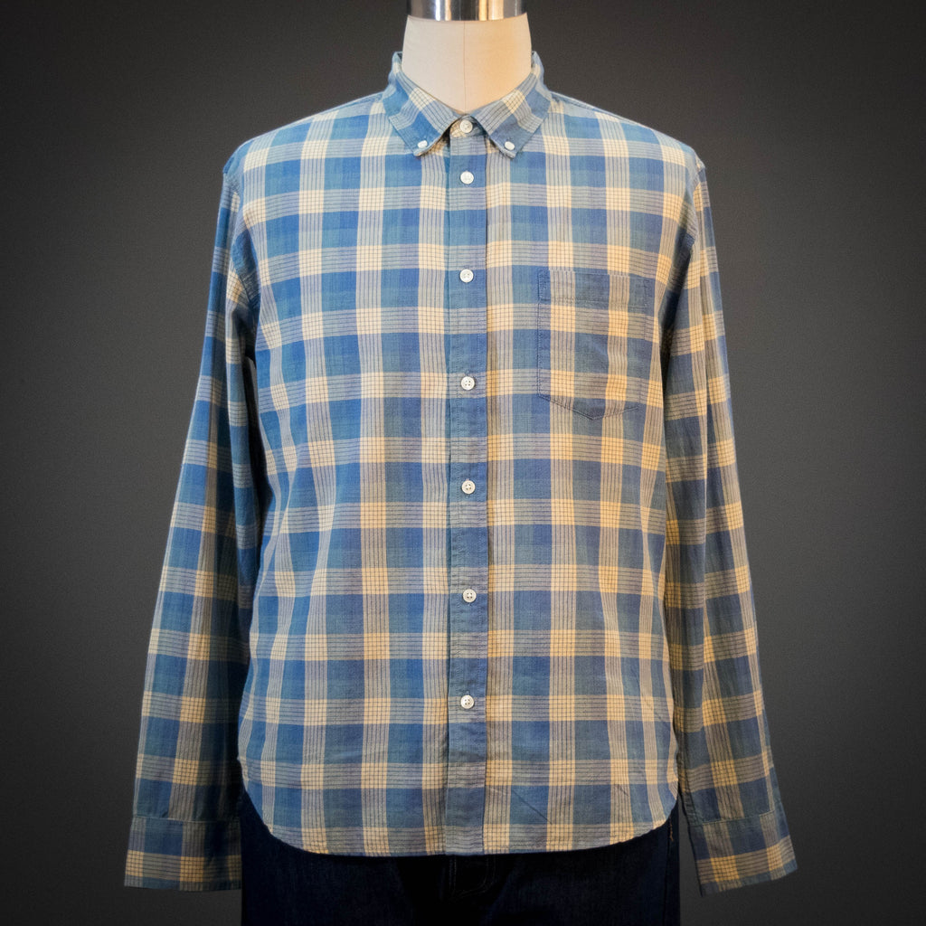 Corridor Baby Blue Madras Long Sleeve Shirt