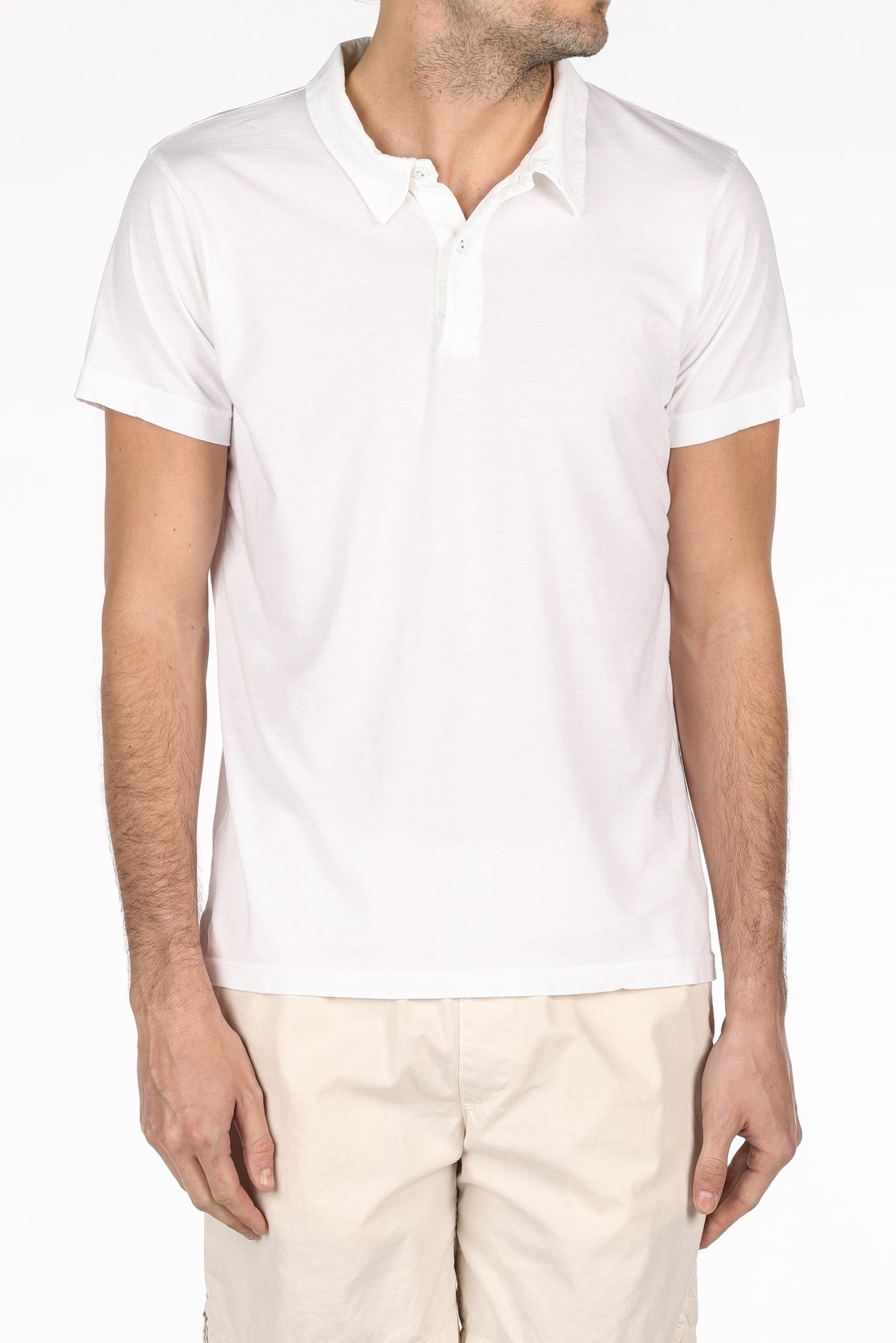 Save Khaki United Supima Jersey Polo - White