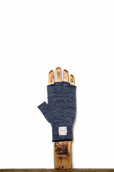 Upstate Stock Melange Fingerless Ragg Wool Gloves