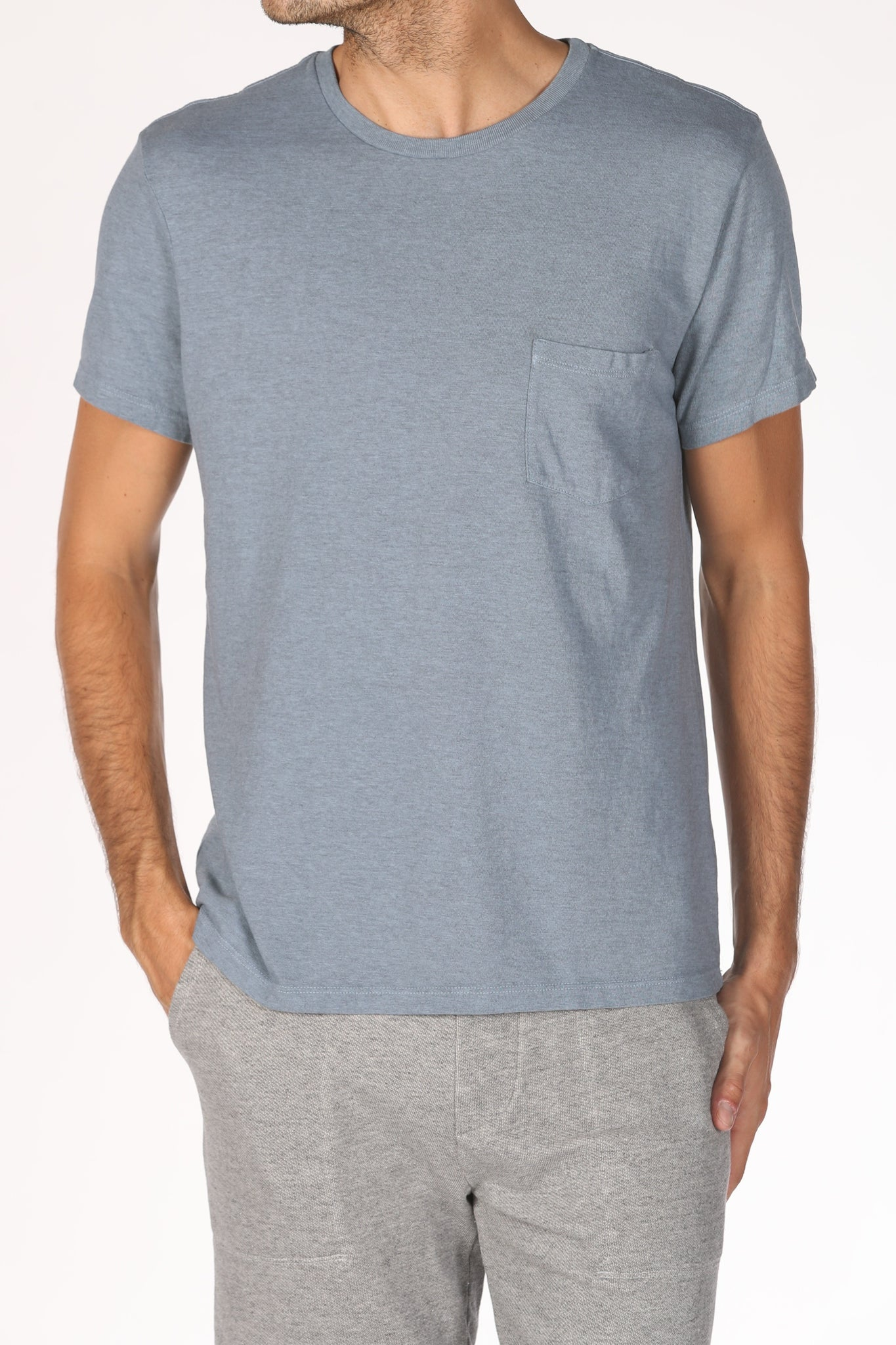 Save Khaki United Heavy Heather Jersey Pocket Tee