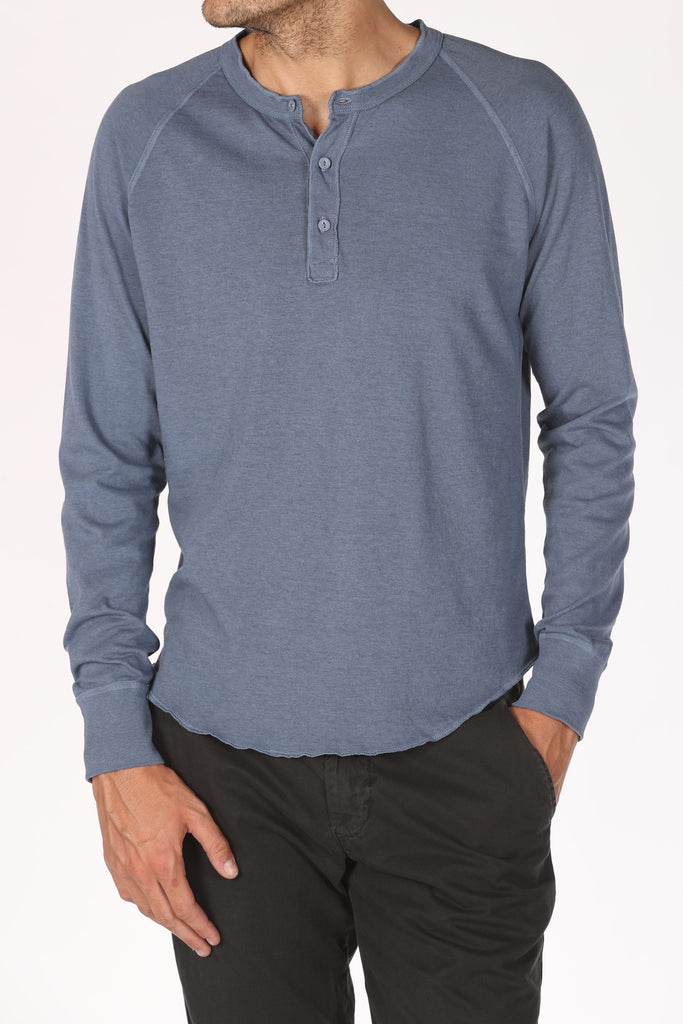 Save Khaki United Heavy Heather Jersey Henley