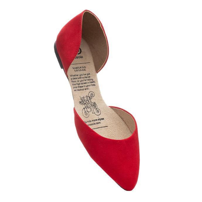 Make a statement with our Vixen Rollasole! This shoe is for those who like a pop of color. Pair this red d'orsay with your favorite skinny jeans for the perfect look.