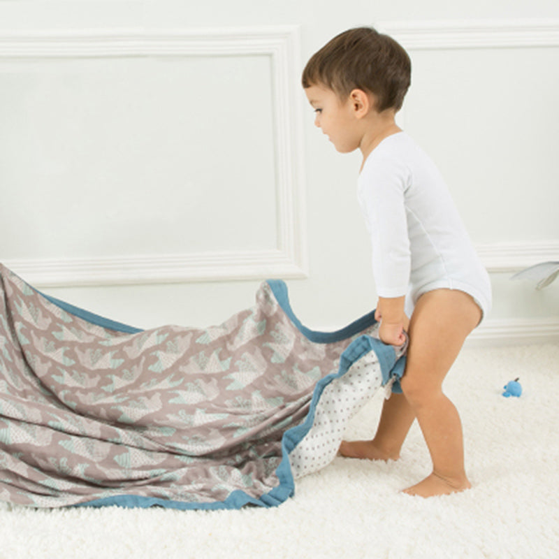 Bamboo/Cotton Muslin Swaddle - Double Layer