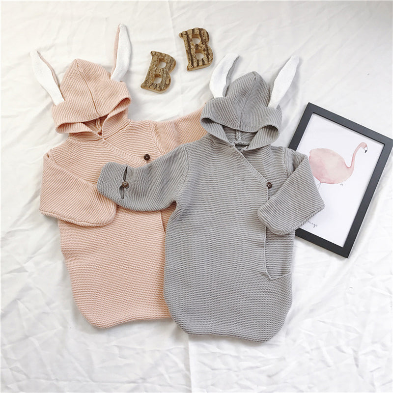 Sweet Baby Bunny Knitted Swaddle