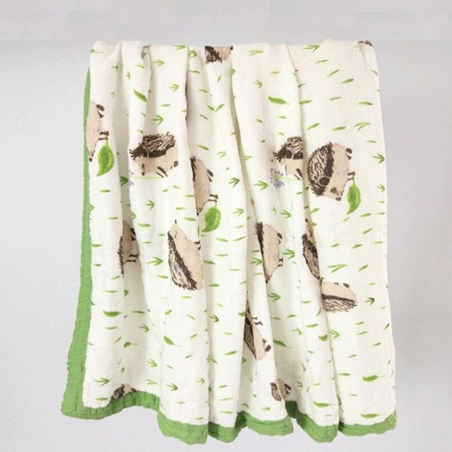 Bamboo & Cotton Double-Layer Muslin Blanket Swaddle
