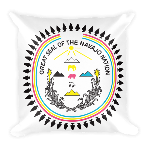Navajo Nation Seal Square Pillow