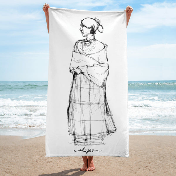 Navajo Woman Towel