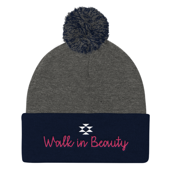 Walk in Beauty Pom Pom Knit Cap