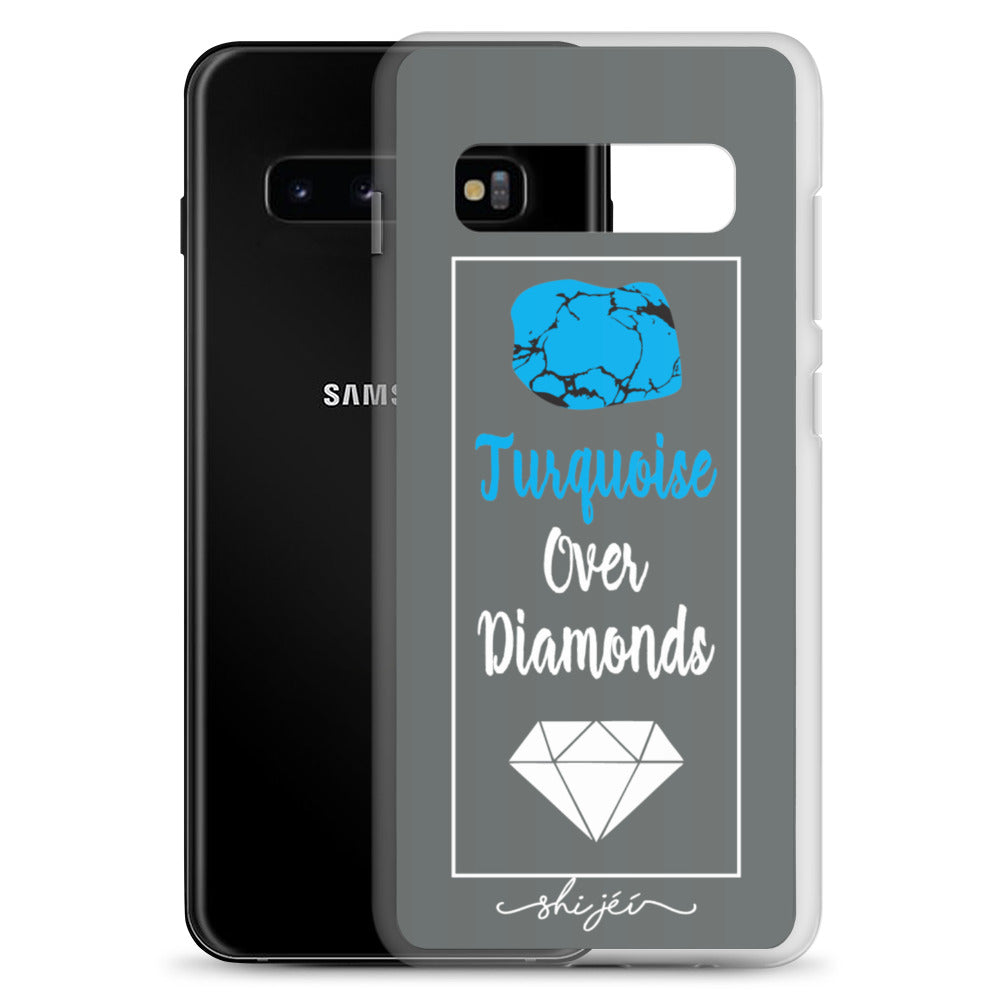 Turquoise Over Diamonds Samsung Case