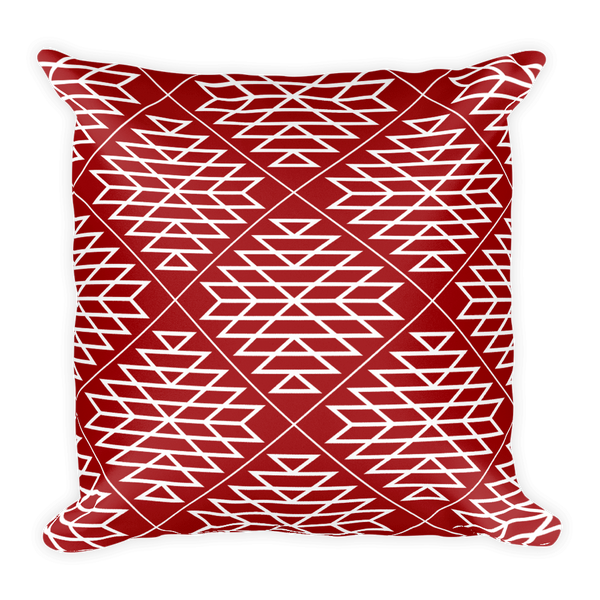 Red Diamond Square Pillow
