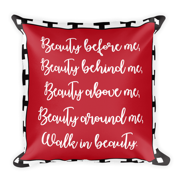 Walk in Beauty Square Pillow