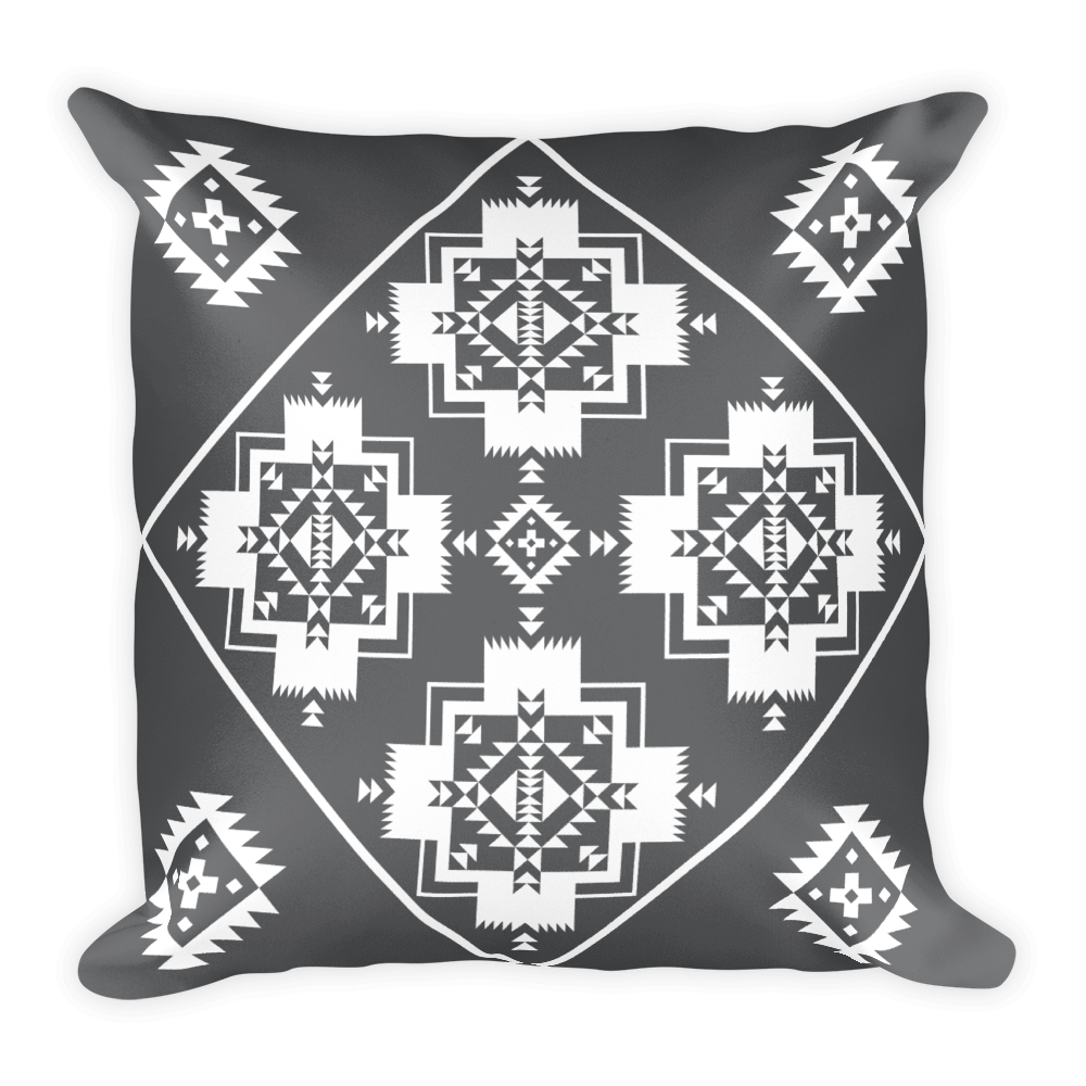 Grey Pendleton Square Pillow