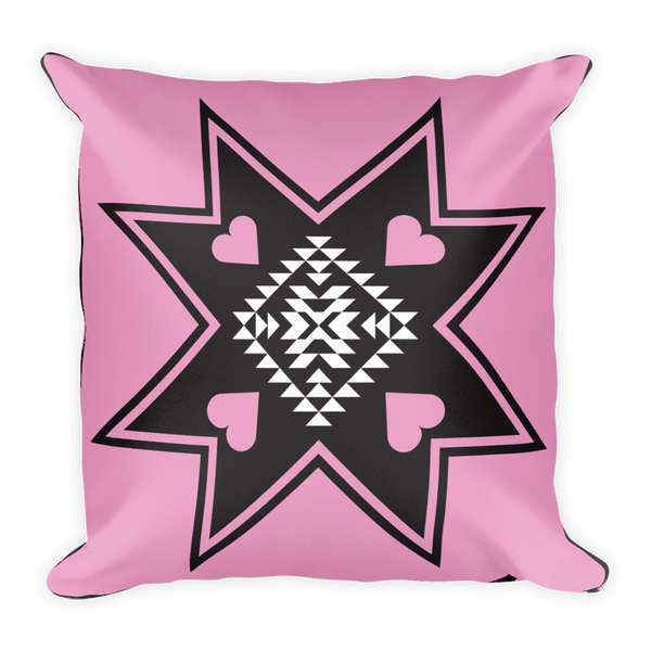 Heart Star Square Pillow