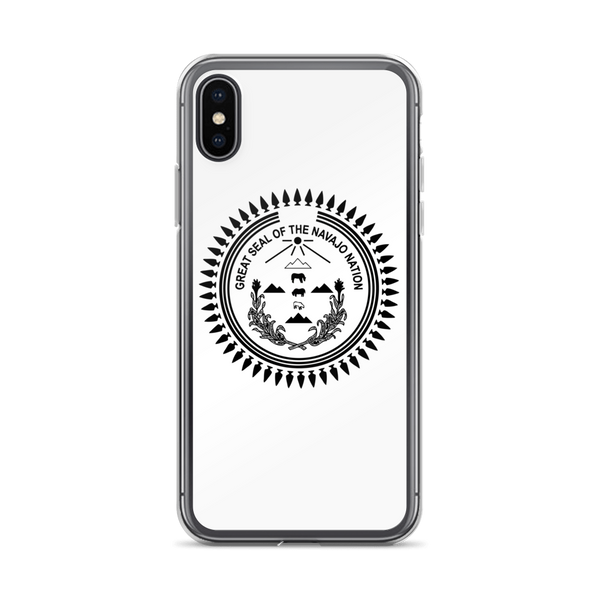 Black Navajo Nation Seal iPhone Case