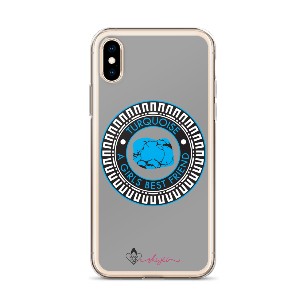 Turquoise is a Girl's Best Friend iPhone Case
