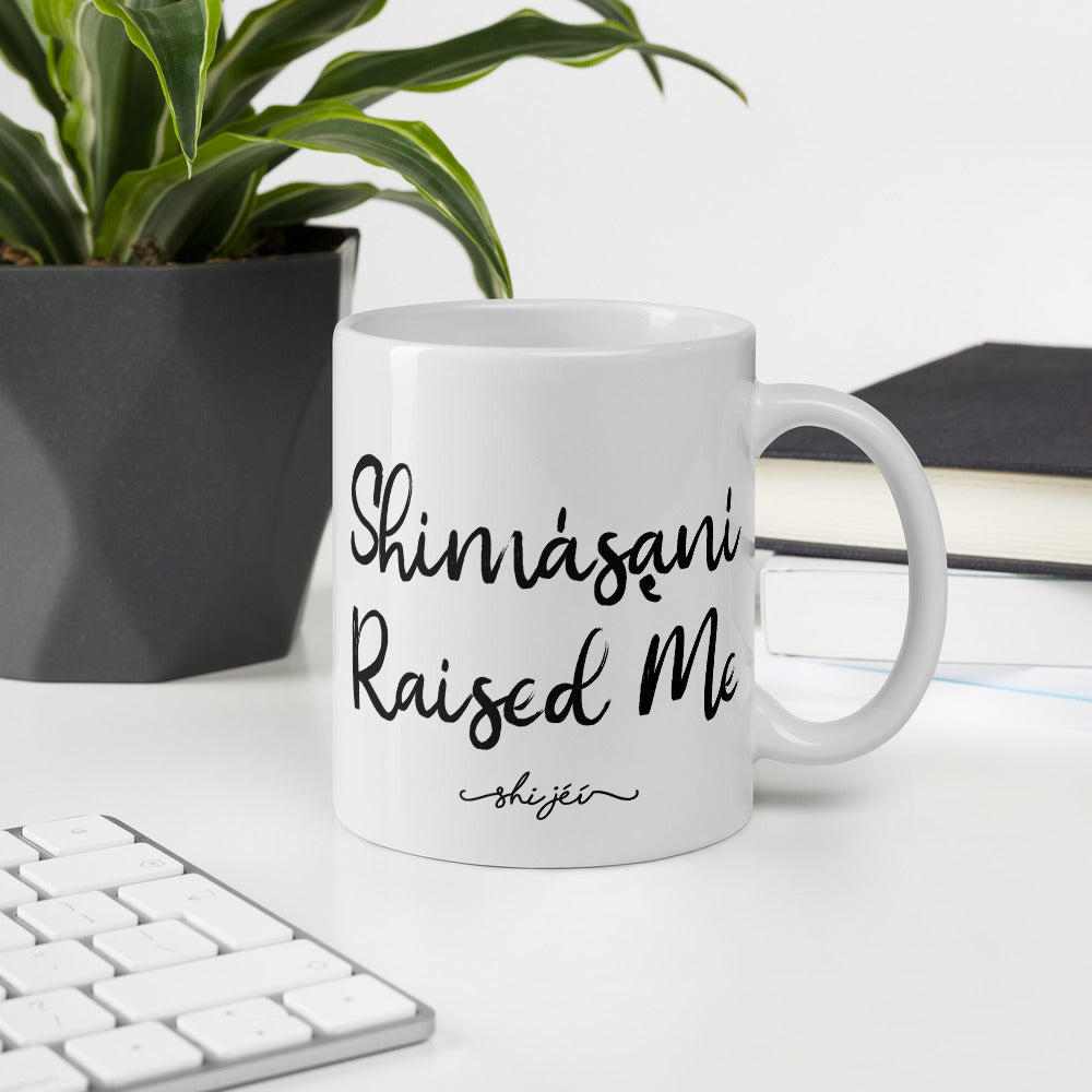 Shimásani Raised Me Mug