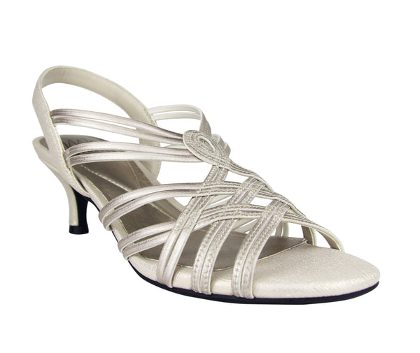 Edeline Stretch Dress Sandal with Memory Foam