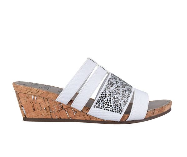 Emberly Stretch Wedge Sandal with Memory Foam