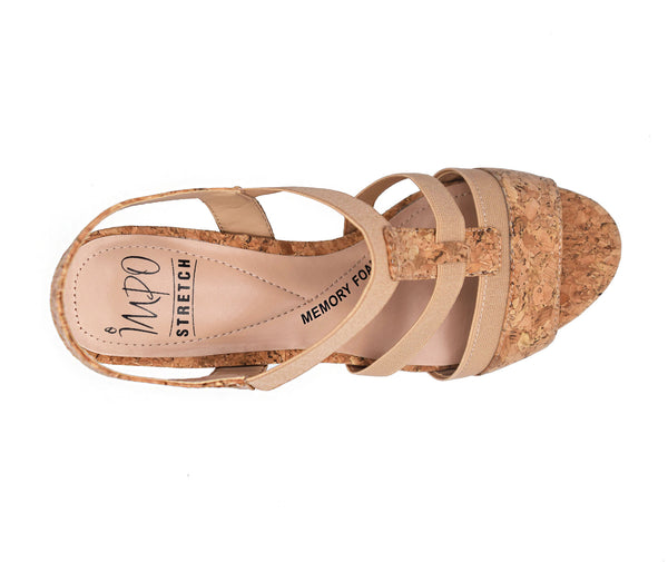 Eshay Stretch Sandal with Memory Foam