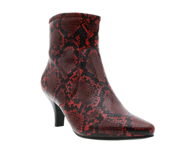 Noria Python Print Stretch Dress Bootie
