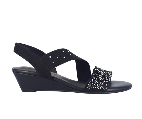 Gatsby Stretch Wedge Sandal with Memory Foam