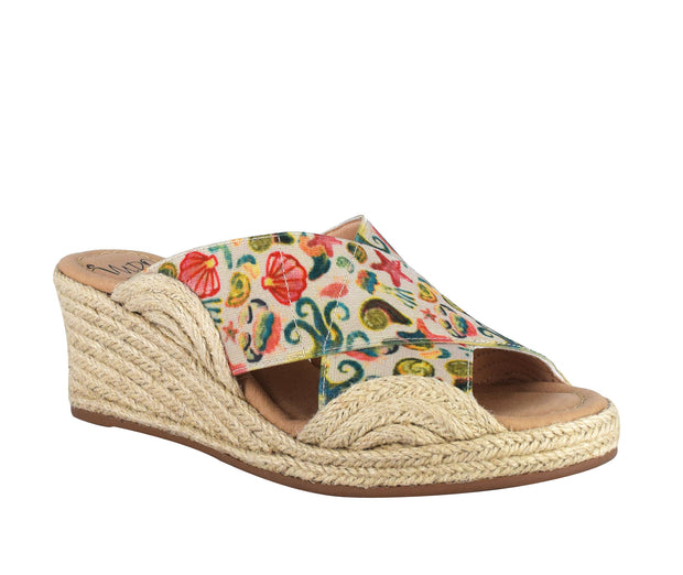 Normi Stretch Elastic Espadrille Wedge Sandal