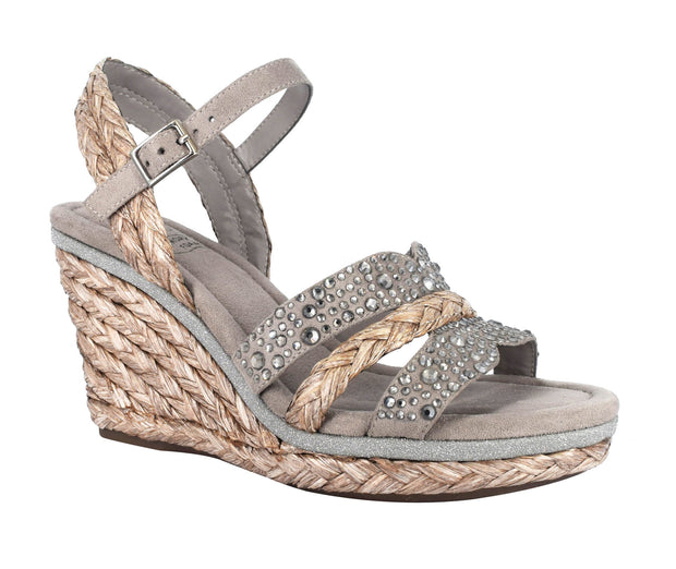 Ossie Platform Wedge Sandal with Memory Foam