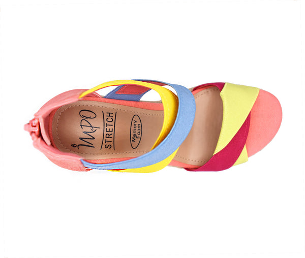 Trissa Stretch Wedge Sandal with Memory Foam