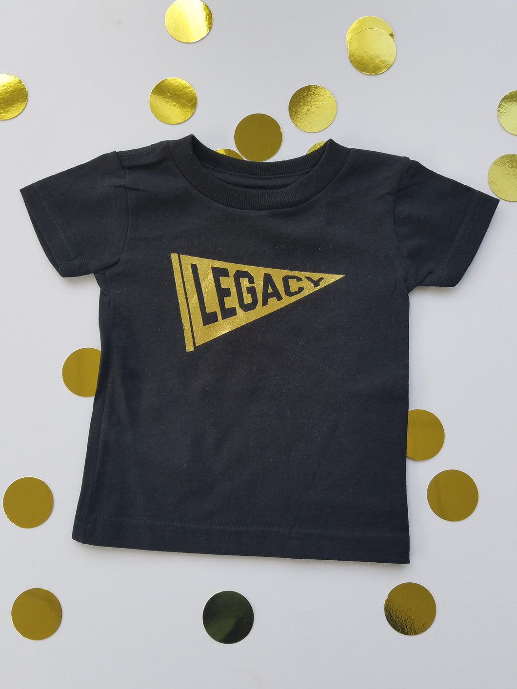 Legacy Gold Foil Black Tee- Toddler 3T