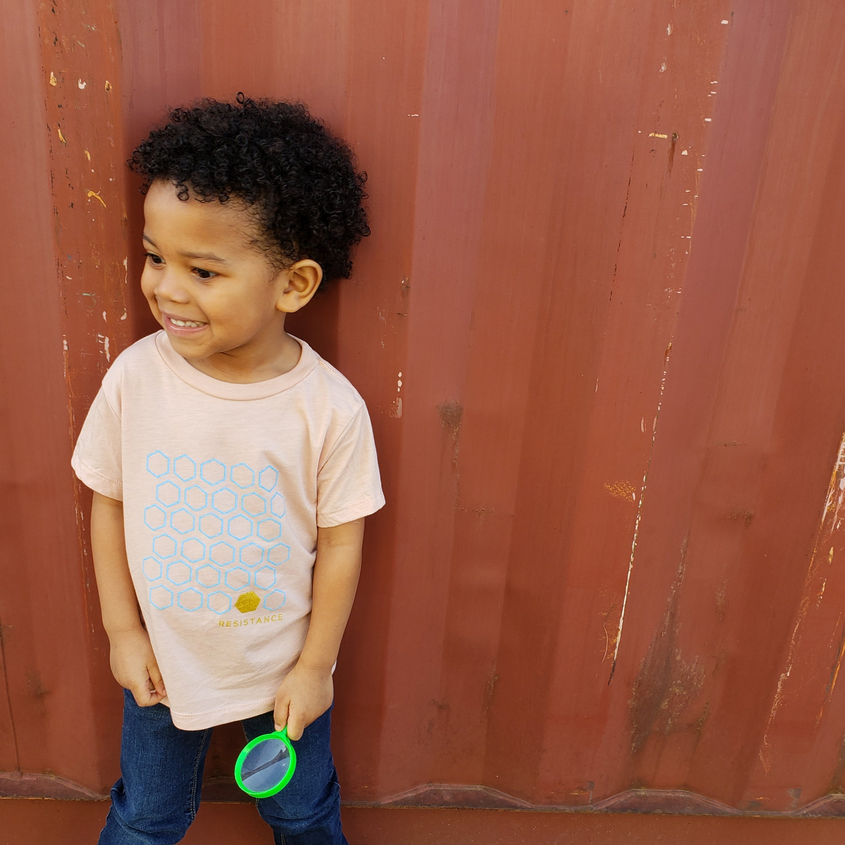 Resistance- Toddler Peach Tee