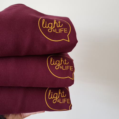 Light & LIFE- Maroon Unisex Layering Sweatshirt