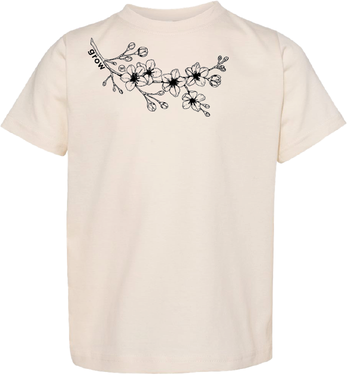 Sakura Grow-Unisex Youth Natural Tee