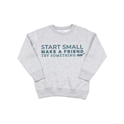Mini Mantra Gray Crewneck Sweatshirt-Toddlers
