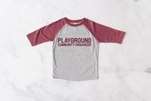 Playground Community Organizer Baseball Tee- Toddler