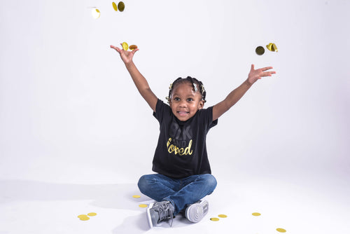 BLK and Loved Gold Foil- Infant Tee